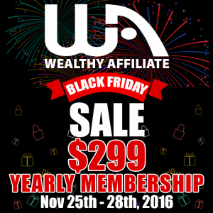 Wealthy Affiliate Black Friday Deal