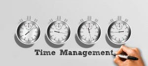 Stopwatches depicting time management