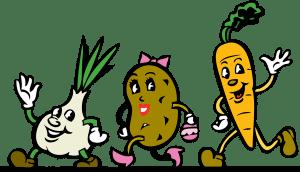 Running vegetables