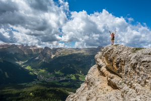 Scaling a mountain - symbolic of achievement